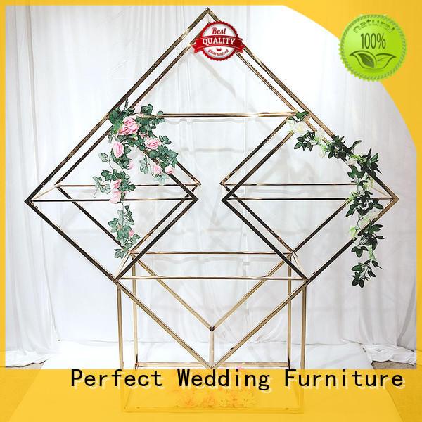 Hot decorative shelves gold Perfect Wedding Furniture Brand