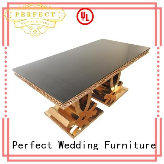Perfect Wedding Furniture steel round wedding tables with contemporary manufacturing series for dining room