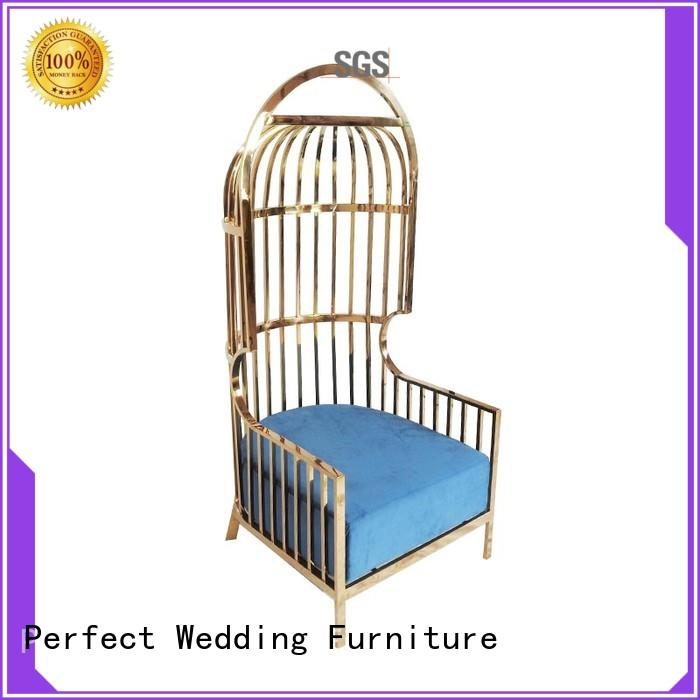 stainless wedding throne chair for hotel Perfect Wedding Furniture