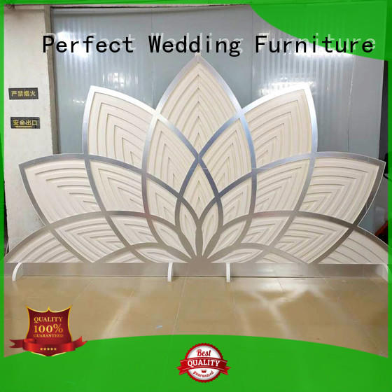 Perfect Wedding Furniture sliver decorative room dividers supplier for wedding ceremony