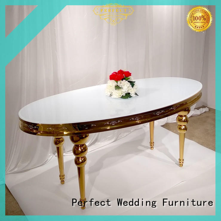 Perfect Wedding Furniture gold top table wedding wholesale for dining room