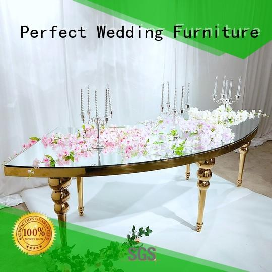 glass gold wedding table in various sizes for wedding ceremony Perfect Wedding Furniture