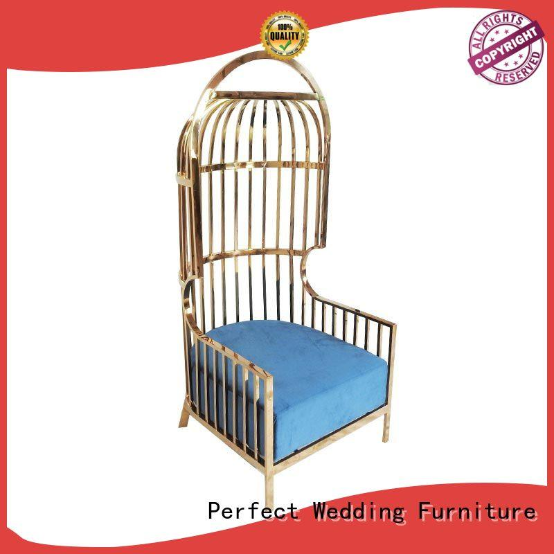 Perfect Wedding Furniture durable king and queen throne chairs manufacturer for hotel