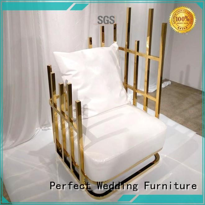 Perfect Wedding Furniture high quality high back king chair stainless for wedding ceremony