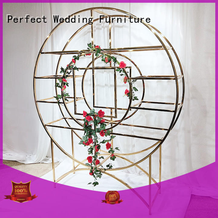 Perfect Wedding Furniture stainless display shelves supplier for hotel
