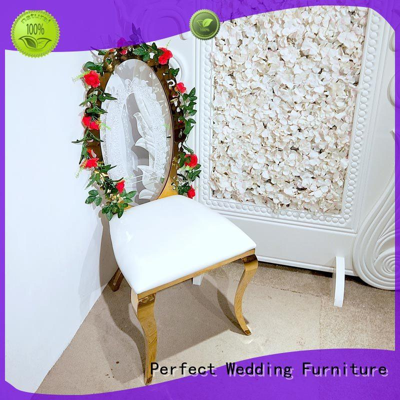 Latest party tables and chairs leather factory for wedding ceremony