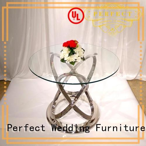 rectangle half glass Perfect Wedding Furniture Brand table for wedding dinner