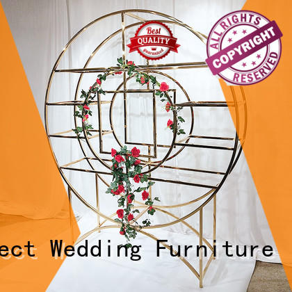 Perfect Wedding Furniture high quality decorative metal wall shelf wholesale for wedding ceremony