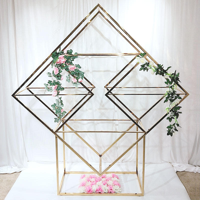 Beautiful Gold Wedding stainless steel Decorative Shelve SJ009