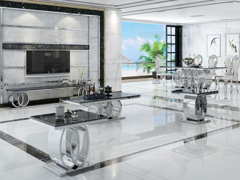 Sliver Chrome Dining Room Series Set CT005