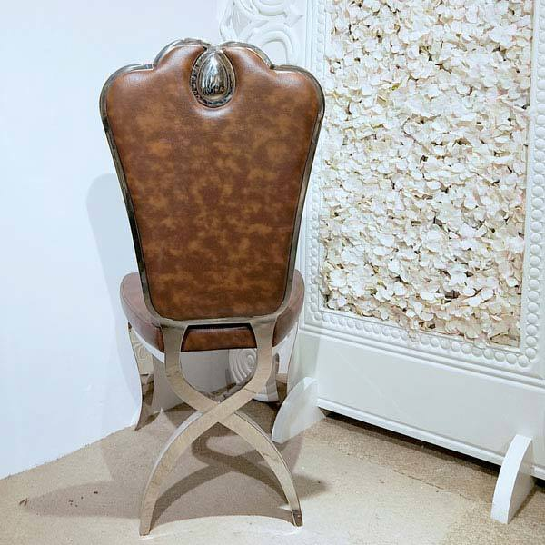 Stainless steel Leather Wedding dining chair CY002