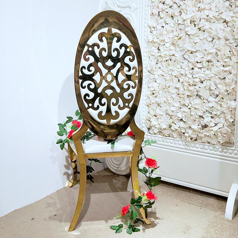 Laser back Wedding dining chair CY010