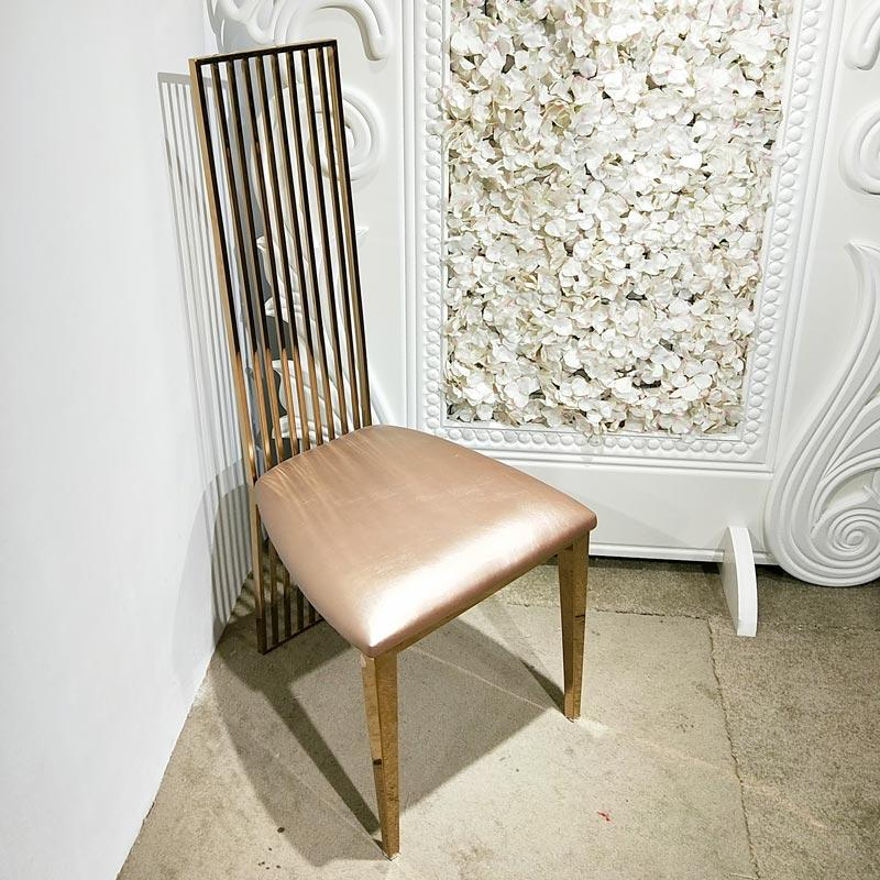 Gold color Wedding dining chair CY013