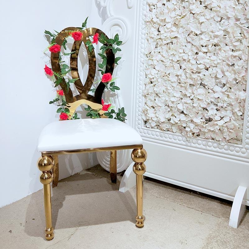 Leather Wedding stainless steel dining chair CY055