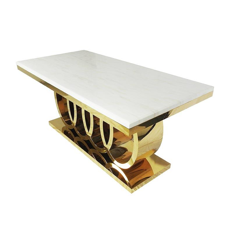 White Marble rectangle Dining table CT005