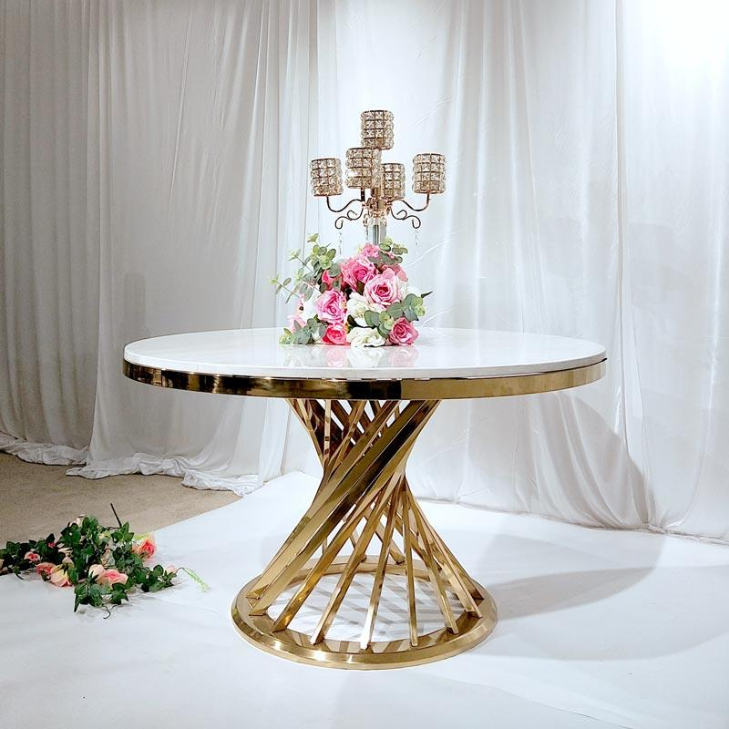 White marble Dining table CT056