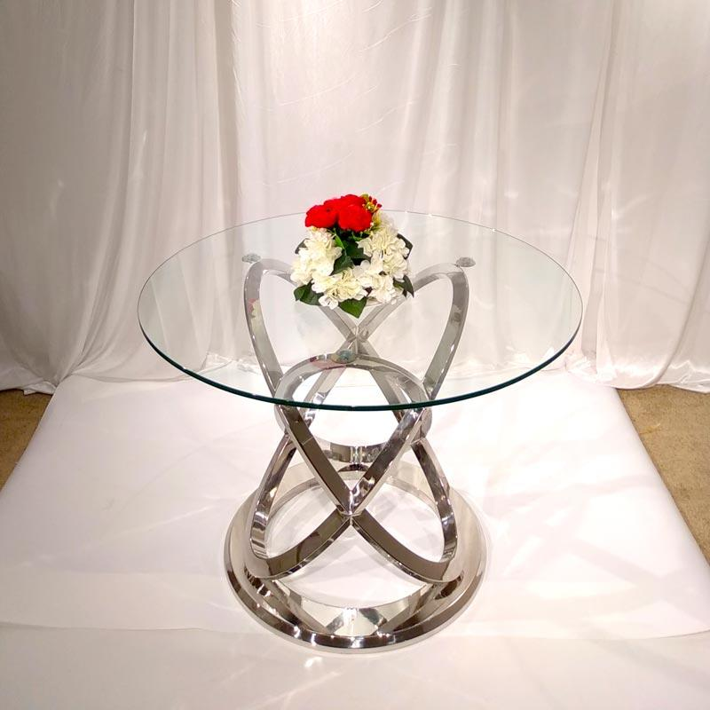 130CM Round Stainless steel Dining table CT057