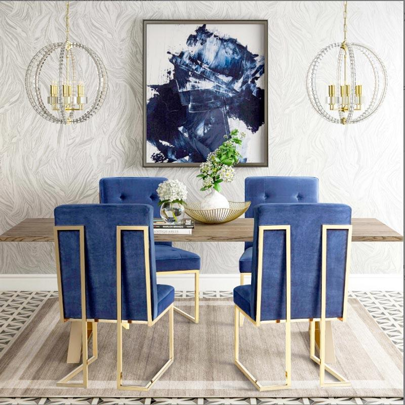 Gold color with nice design leisurely chair XX015