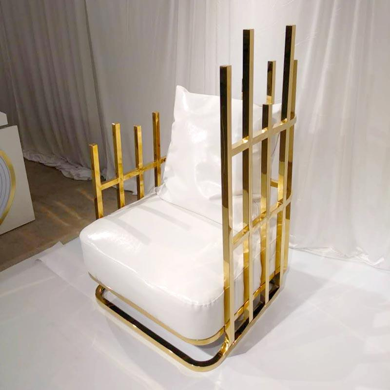 Gold color relaxing chair  XX016