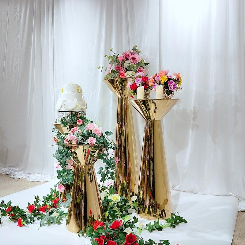 Stainless steel Wedding pedestal stand HJ011