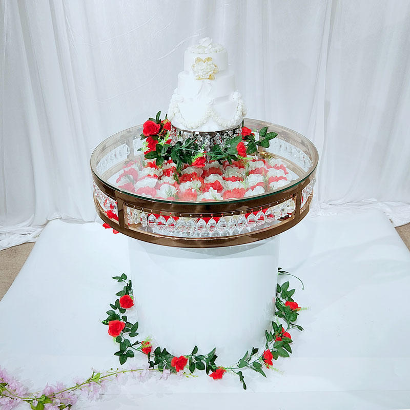 round Wedding stainless steel dining table WCT005