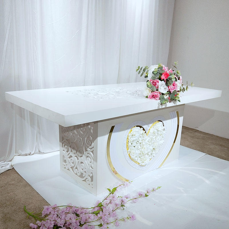 Gold color with PVC Wedding dining table WCT006