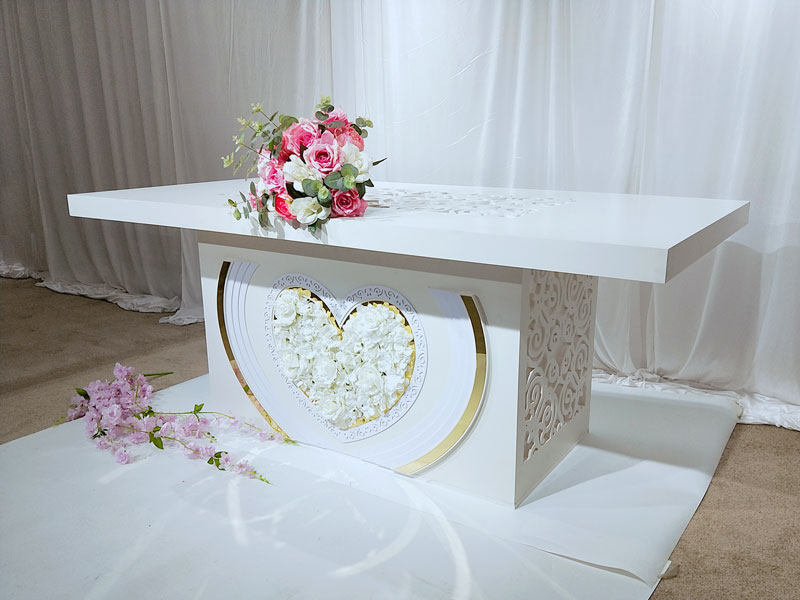 Perfect Wedding Furniture stainless bridal table centerpieces Supply for dining room-4