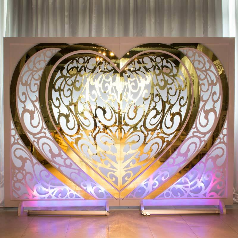 Gold PVC Wedding screen PF004