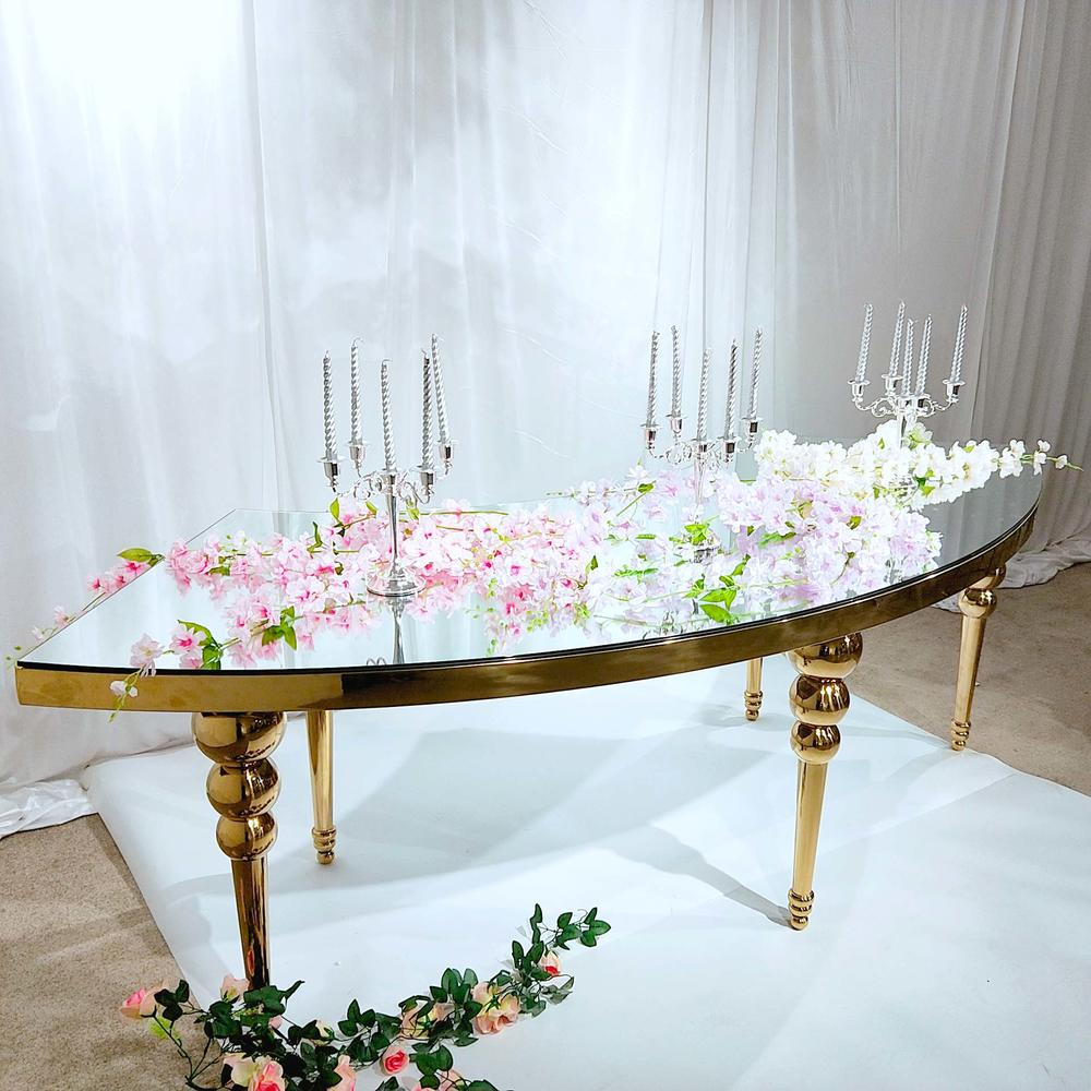 half round Wedding dining table WCT002