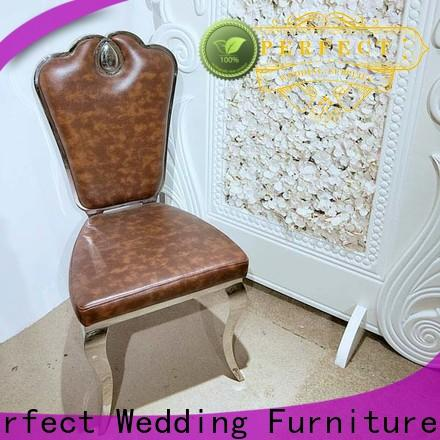 Perfect Wedding Furniture stainless gold wedding chairs manufacturers for hotel