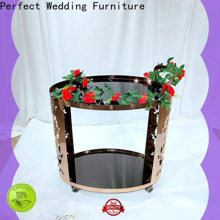 Perfect Wedding Furniture trolley rolling bar cart Suppliers for wedding ceremony
