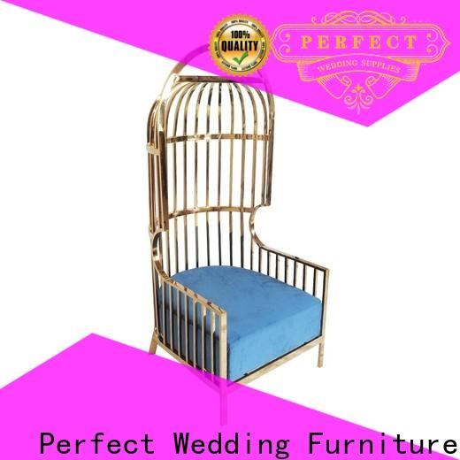 Perfect Wedding Furniture gold king and queen chairs for weddings for business for wedding ceremony