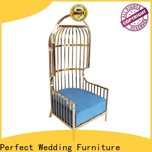 Perfect Wedding Furniture Wholesale king and queen chairs Supply for wedding ceremony