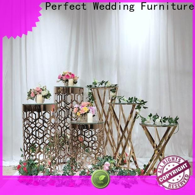Perfect Wedding Furniture glass flower stands for wedding aisle Suppliers for home
