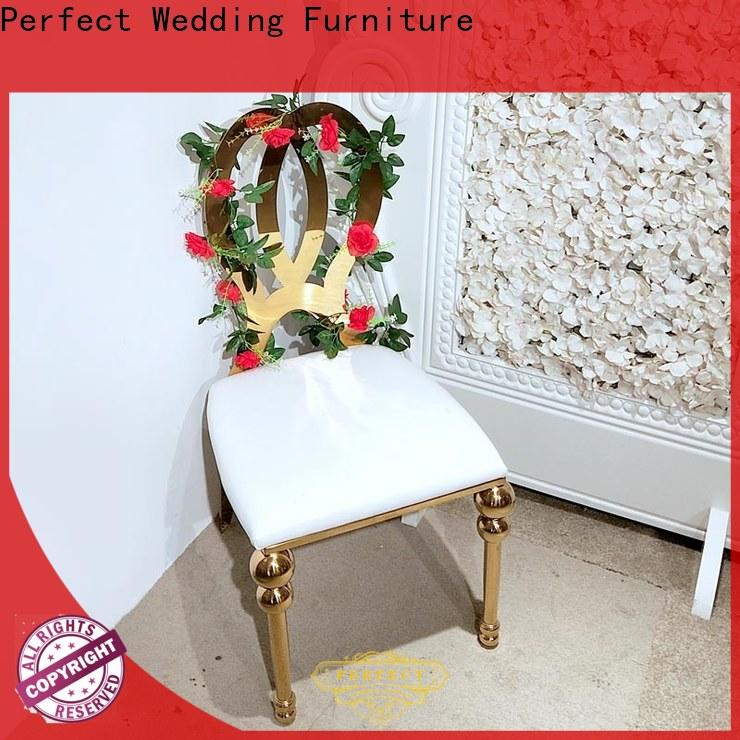 Wholesale wedding chairs for bride and groom steel Suppliers for hotel