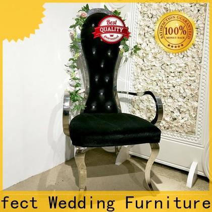Custom king and queen chairs throne Supply for wedding ceremony