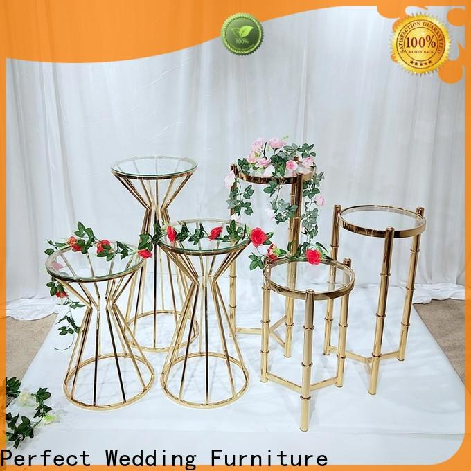 Perfect Wedding Furniture Wholesale metal flower stand factory for hotel