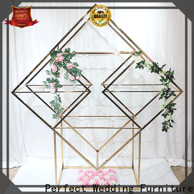 Perfect Wedding Furniture Top decorative metal wall shelf Supply for wedding ceremony