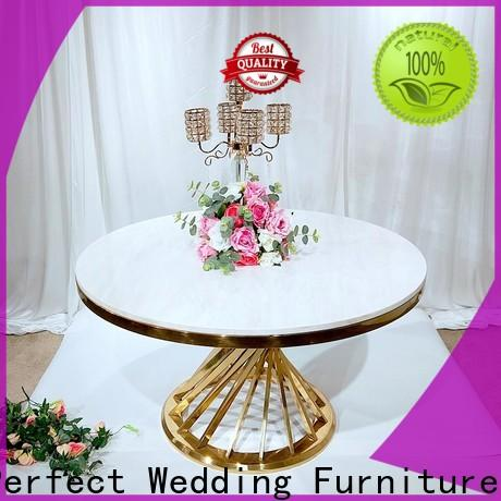 Perfect Wedding Furniture gold bridal table settings factory for wedding ceremony