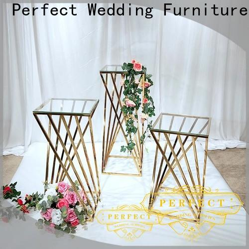 Top flower stands for wedding aisle glass for business for wedding ceremony