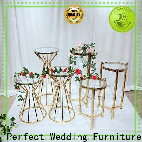 Top gold flower stand pedestal manufacturers for wedding ceremony