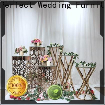 Perfect Wedding Furniture stand metal flower stand Supply for hotel