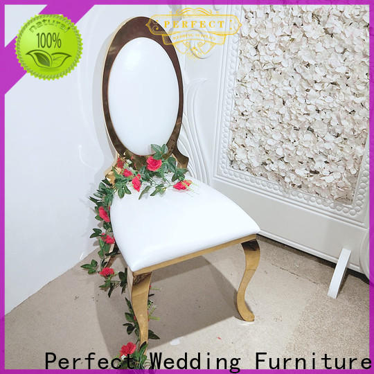 Best bridal chair gold Supply for wedding ceremony
