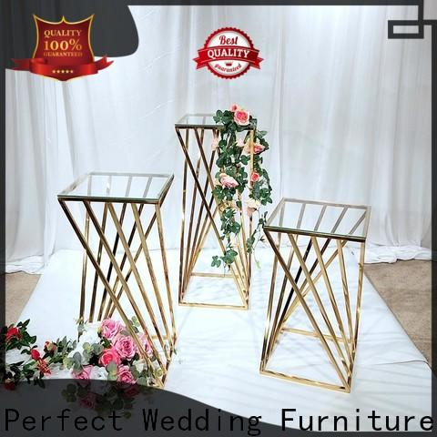 Perfect Wedding Furniture Top gold flower stand Suppliers for home