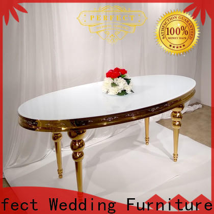 Perfect Wedding Furniture big dressed wedding tables factory for wedding ceremony