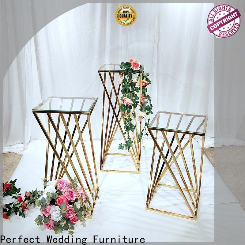High-quality flower stands for wedding aisle stainless manufacturers for home
