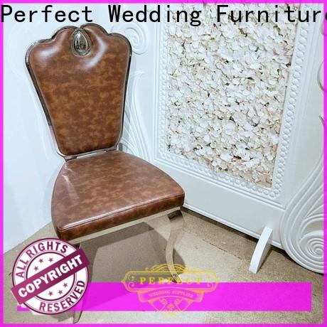 Top party tables and chairs leather factory for wedding ceremony