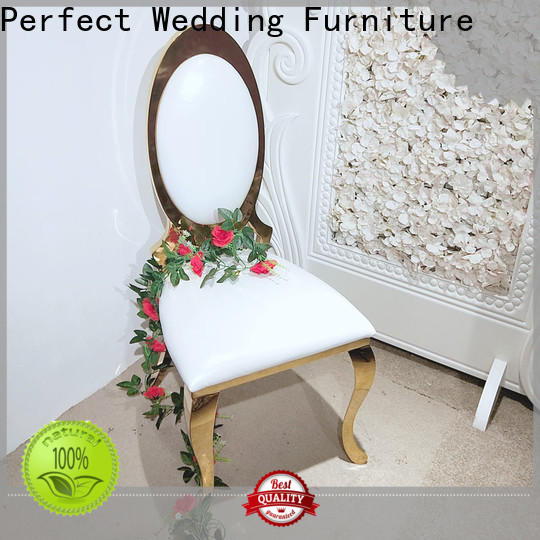Perfect Wedding Furniture leather bridal chair Suppliers for hotel