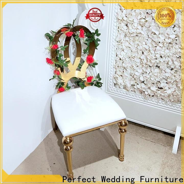 High-quality wedding chairs for bride and groom steel Supply for wedding ceremony