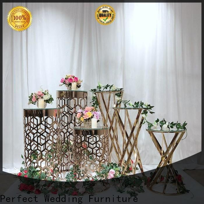Perfect Wedding Furniture gold flower stand Suppliers for hotel